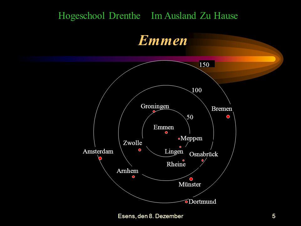 Esens, den 8.Dezember6 Hogeschool Drenthe und: in der Nähe Gibt es Probleme Wohnraum zu finden.