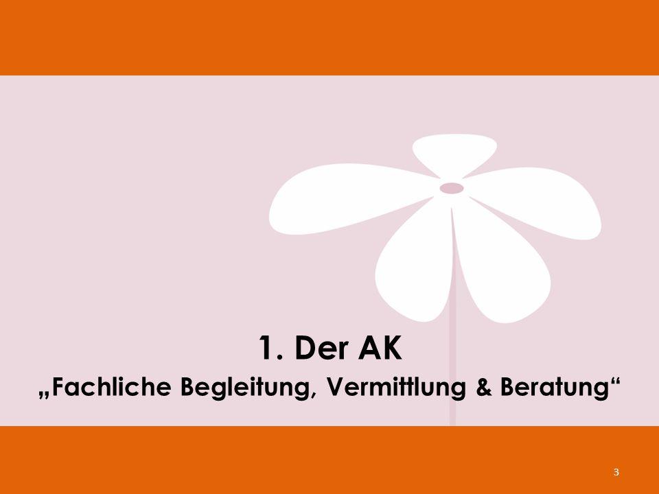 """1. Der AK """" Fachliche Begleitung, Vermittlung & Beratung"""" 3"""