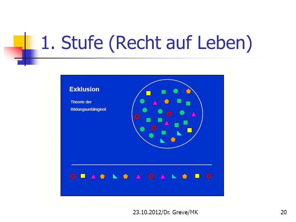 1. Stufe (Recht auf Leben) 23.10.2012/Dr. Greve/MK20