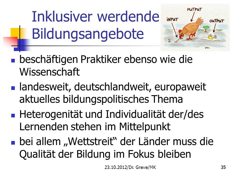 Inklusiver werdende Bildungsangebote beschäftigen Praktiker ebenso wie die Wissenschaft landesweit, deutschlandweit, europaweit aktuelles bildungspoli