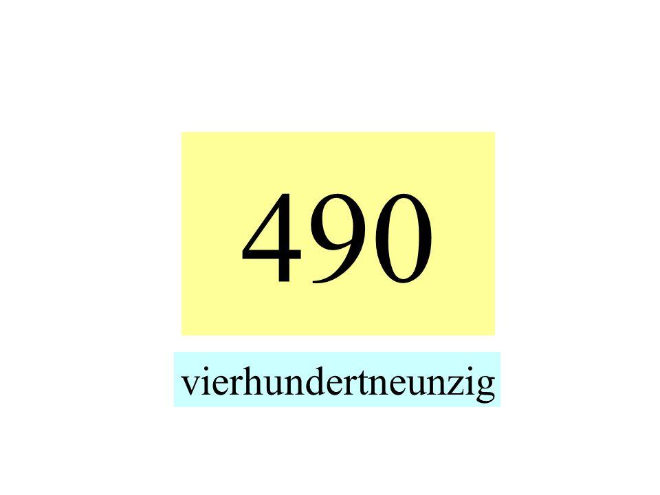 490 vierhundertneunzig