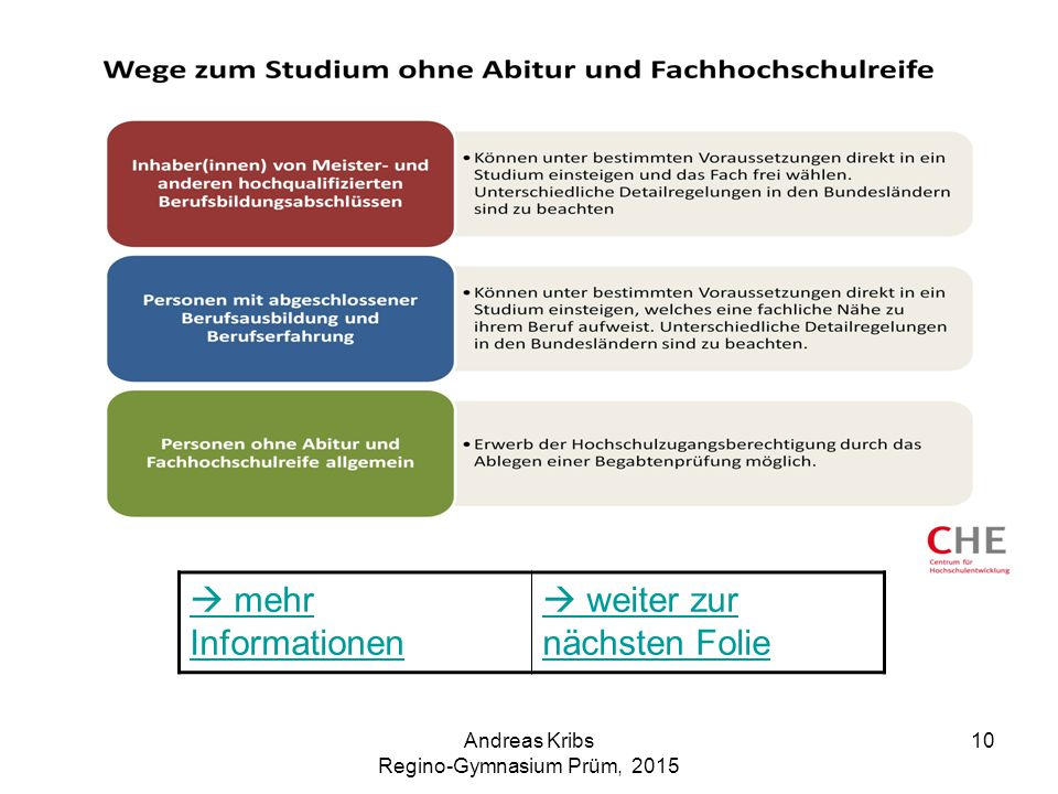Andreas Kribs Regino-Gymnasium Prüm, 2015 10  mehr Informationen  weiter zur nächsten Folie