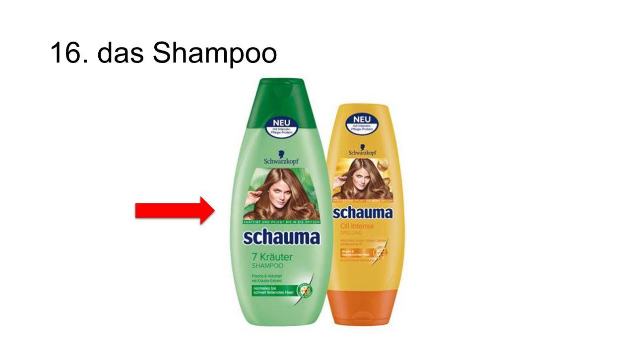 16. das Shampoo