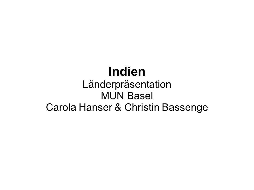 Indien Länderpräsentation MUN Basel Carola Hanser & Christin Bassenge