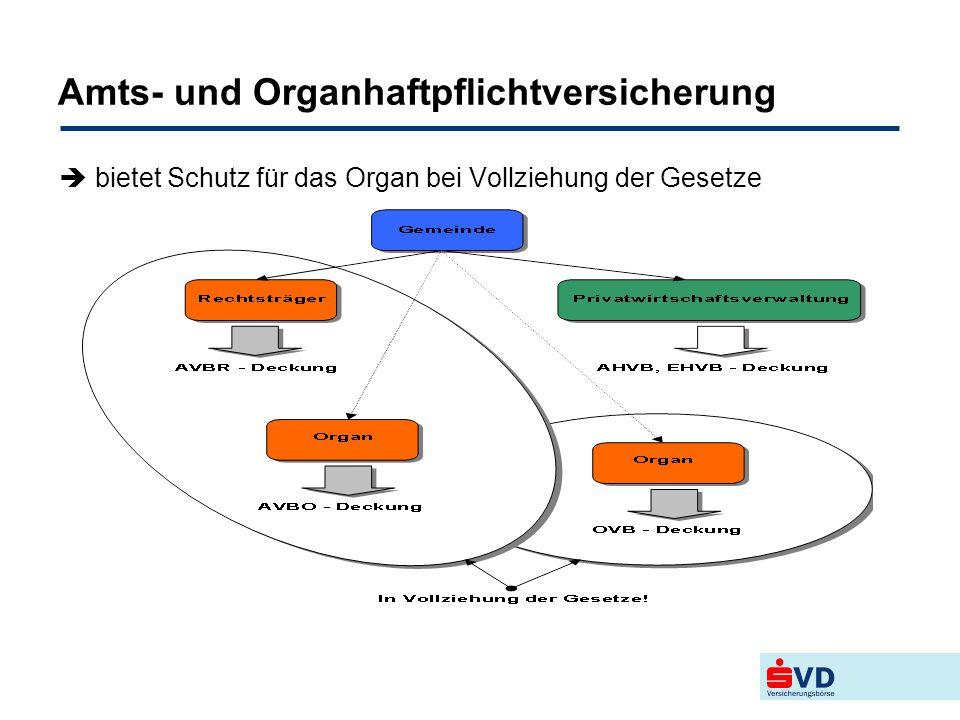 Amts- und Organhaftpflichtversicherung  bietet Schutz für das Organ bei Vollziehung der Gesetze