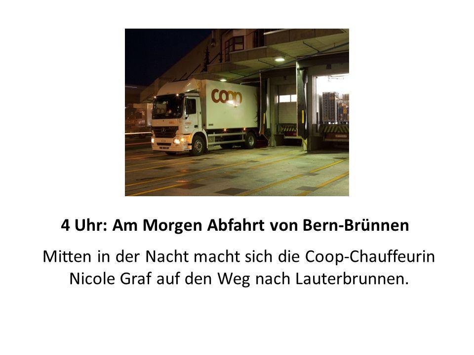 Mitten in der Nacht macht sich die Coop-Chauffeurin Nicole Graf auf den Weg nach Lauterbrunnen.