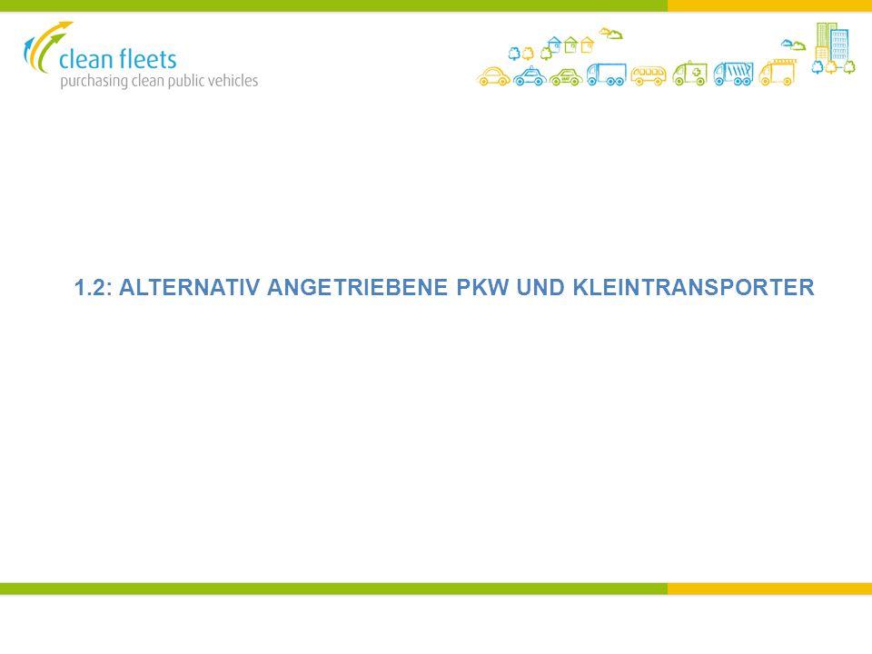 1.2: ALTERNATIV ANGETRIEBENE PKW UND KLEINTRANSPORTER