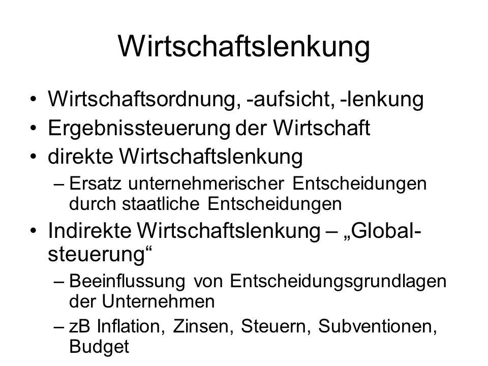 Wirtschafts- und Währungsunion Ziele –Art 2 EGV – allgemeine Ziele –Art 4 (2) EGV – offene Marktwirtschaft mit freiem Wettbewerb –Art 4 (3) EGV – Grundsätze: Preisstabilität, gesunde öffentliche Finanzen Mittel –Art 4 (2), 105 ff EGV – einheitliche Währung –Art 104 EGV – Kontrolle der Haushaltspolitik der MS –Art 4 (1), 98 ff EGV – Koordinierung der Wirtschaftpolitik der MS