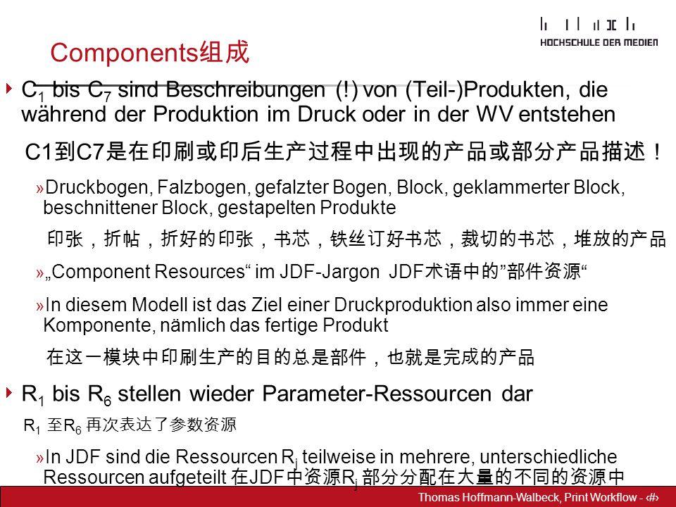 Dr. Hoffmann-Walbeck Prepress heute - 20 Thomas Hoffmann-Walbeck, Print Workflow - 20 Components 组成  C 1 bis C 7 sind Beschreibungen (!) von (Teil-)P