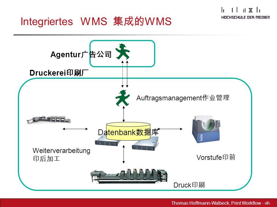 Dr. Hoffmann-Walbeck Prepress heute - 29 Thomas Hoffmann-Walbeck, Print Workflow - 29 Integriertes WMS 集成的 WMS Datenbank 数据库 Agentur 广告公司 Druckerei 印刷