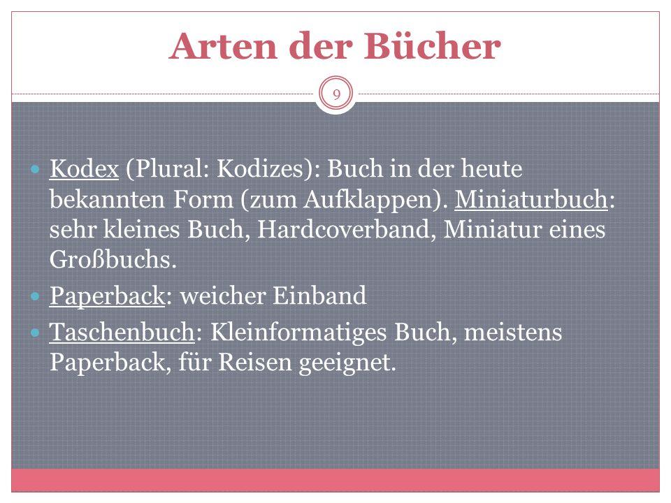 6.Gliederung der Bücher Titelblatt, Impressum Inhaltsverzeichnis Vorwort.