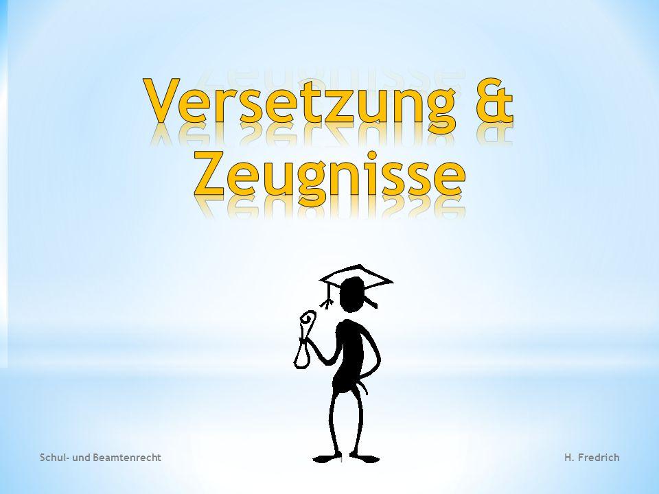 1.) Ausgleichsregelungen Schul- und Beamtenrecht 12 H.