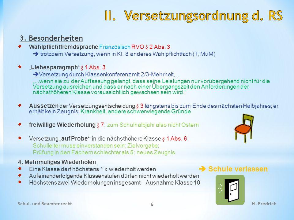 4.Fallbespiele Versetzung Schul- und Beamtenrecht 7 H.