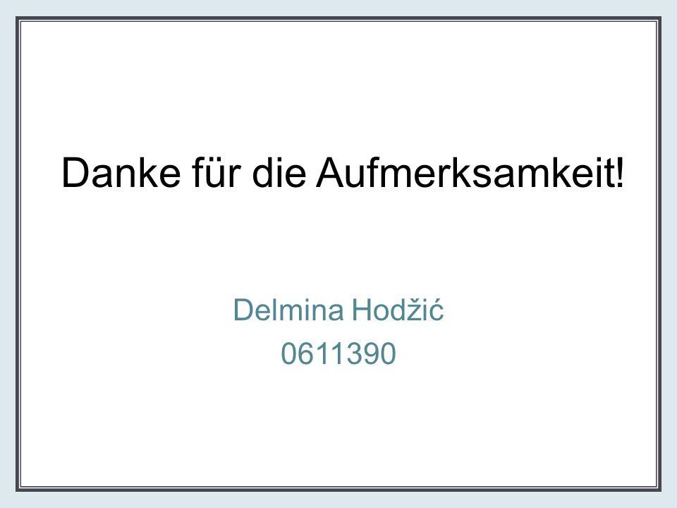 Danke für die Aufmerksamkeit! Delmina Hodžić 0611390