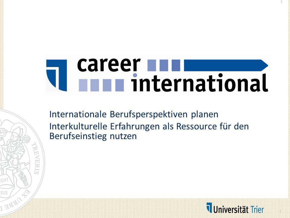 Internationale Berufsperspektiven planen Interkulturelle Erfahrungen als Ressource für den Berufseinstieg nutzen 1
