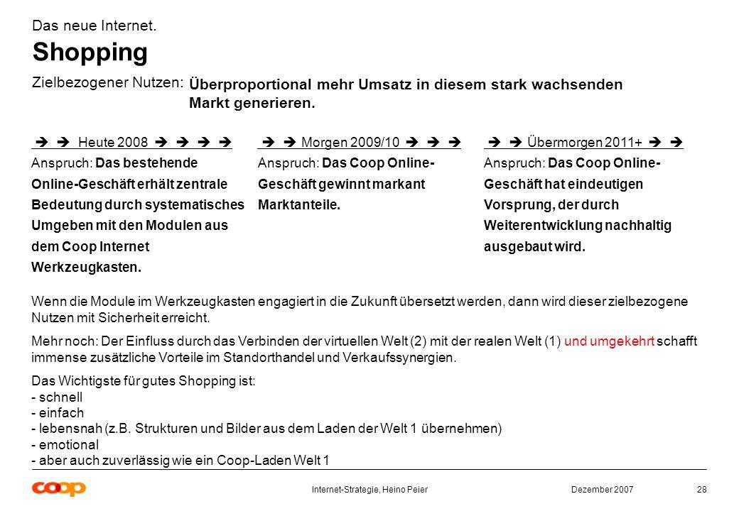 Dezember 2007Internet-Strategie, Heino Peier28 Das neue Internet.