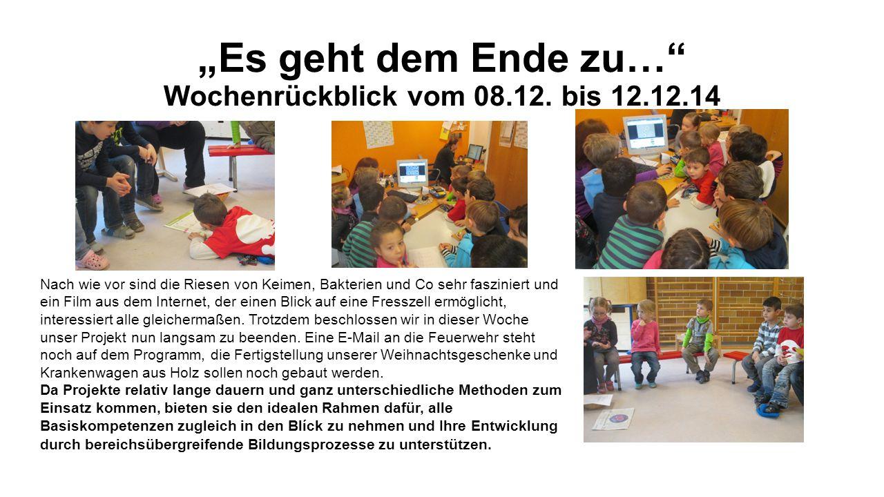 """""""Es geht dem Ende zu… Wochenrückblick vom 08.12."""