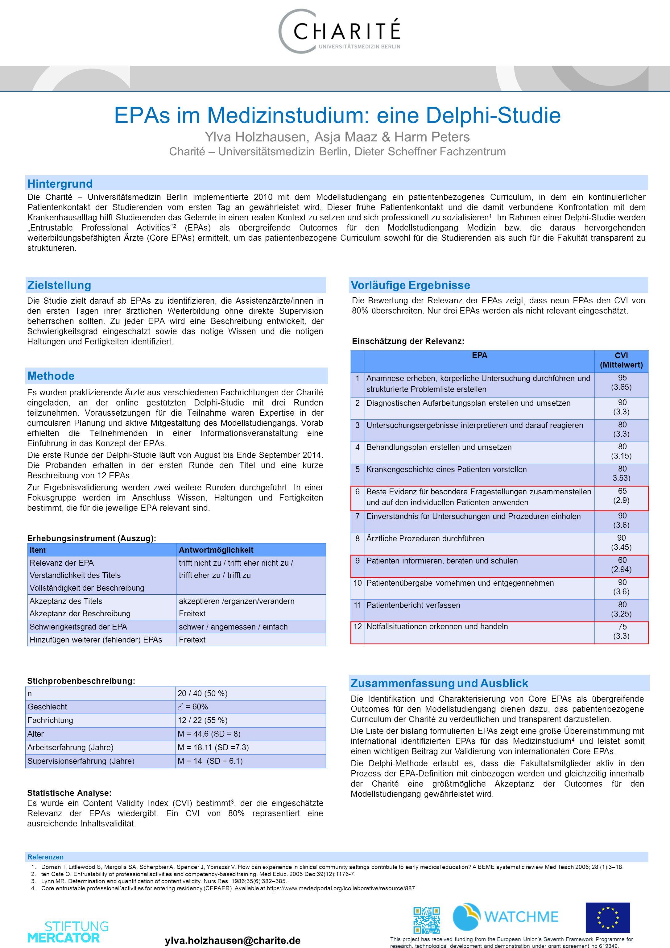 Die Charité – Universitätsmedizin Berlin implementierte 2010 mit dem Modellstudiengang ein patientenbezogenes Curriculum, in dem ein kontinuierlicher Patientenkontakt der Studierenden vom ersten Tag an gewährleistet wird.