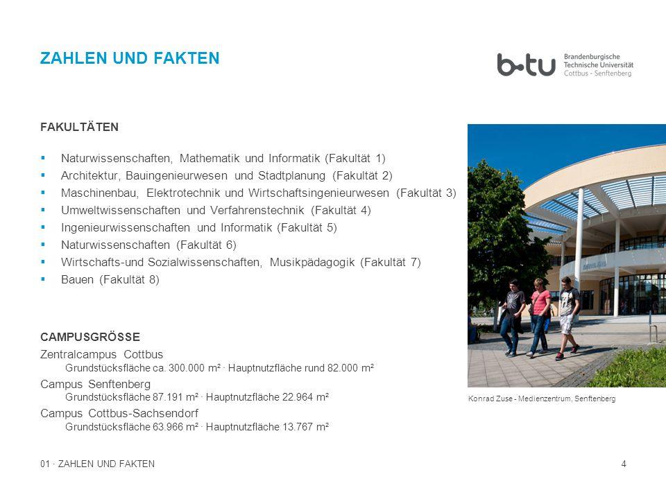 15 02 · BTU-KONZEPTION ALLES UNTER EINEM DACH Die Wendeltreppe des Informations- und Kommunikations- und Medienzentrums Die BTU Cottbus–Senftenberg bietet mit mehr als 70 Studiengängen an drei Standorten ein breites Spektrum an arbeitsmarktorientierten als auch klassischen Studiengängen.
