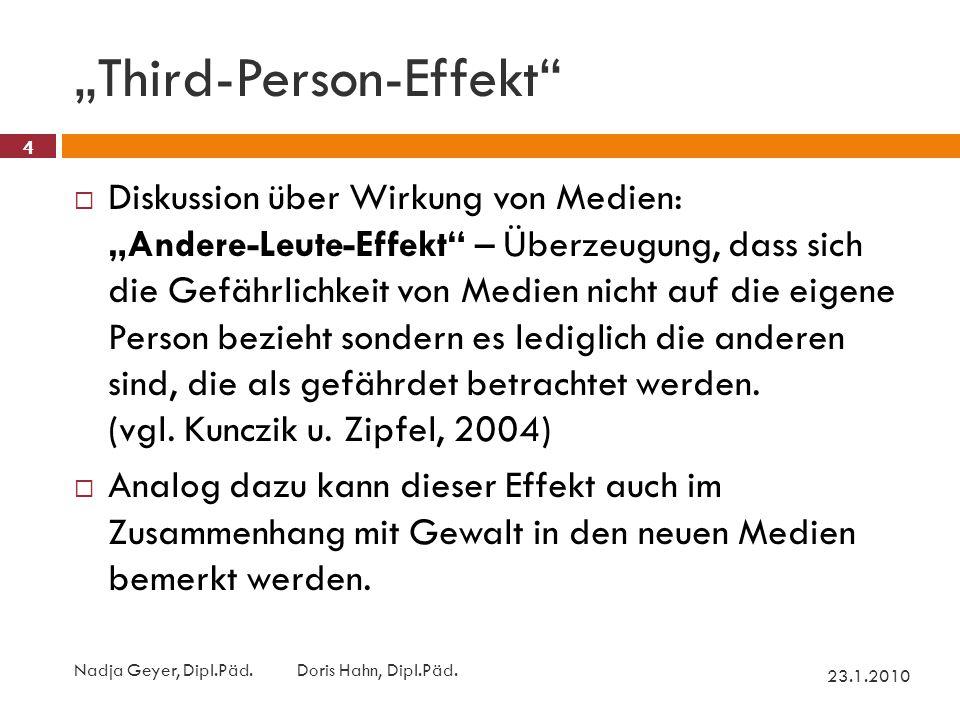 """Third-Person-Effekt 23.1.2010 Nadja Geyer, Dipl.Päd."