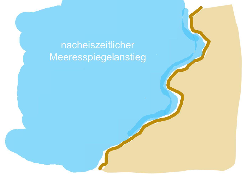 Nehrung Mit steigendem Meeresspiegel am Ende der Eiszeit wurden Teile dieser Grundmoränenlandschaft überschwemmt.