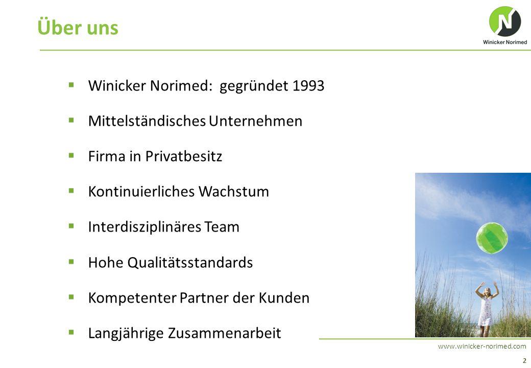 2 www.winicker-norimed.com Über uns  Winicker Norimed: gegründet 1993  Mittelständisches Unternehmen  Firma in Privatbesitz  Kontinuierliches Wach