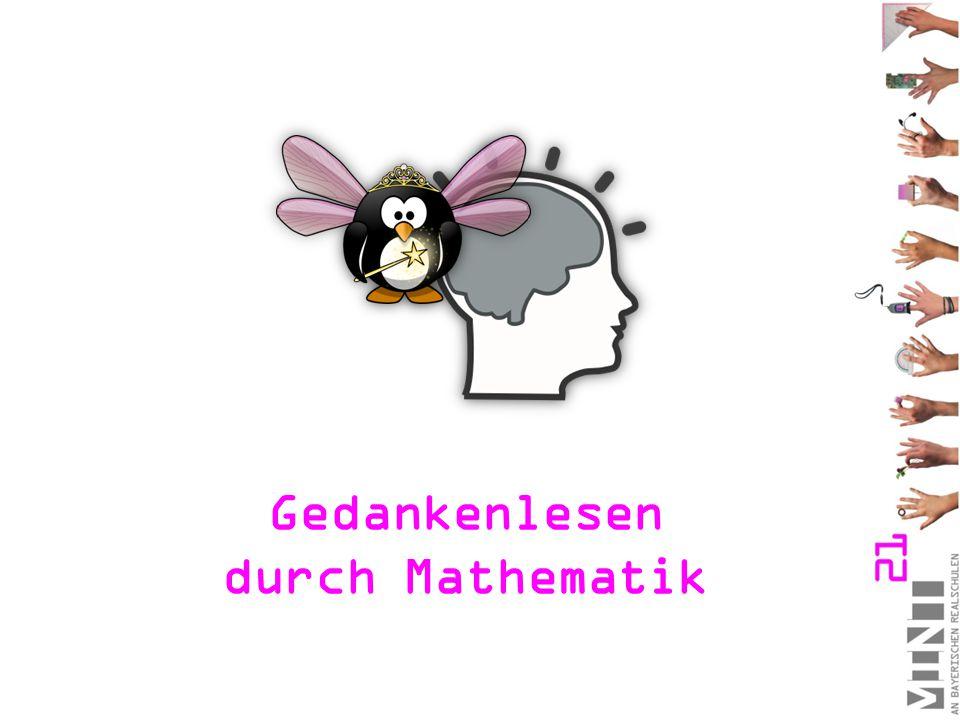 Gedankenlesen durch Mathematik