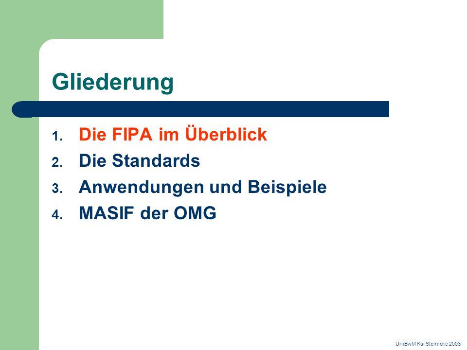 Gliederung 1. Die FIPA im Überblick 2. Die Standards 3.