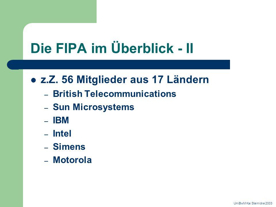 Die FIPA im Überblick - II z.Z.
