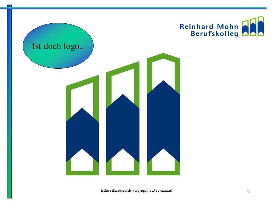 Höhere Handelsschule (copyright: StD Strickmann) 3 Reinhard-Mohn-Berufskolleg für Wirtschaft und Verwaltung des Kreises Gütersloh Wiesenstraße 29 33330 Gütersloh Tel.: 05241/211200 Fax: 05241/2112029 eMail: info@reinhard-mohn-berufskolleg.de oder Internet: www.reinhard-mohn-berufskolleg.de
