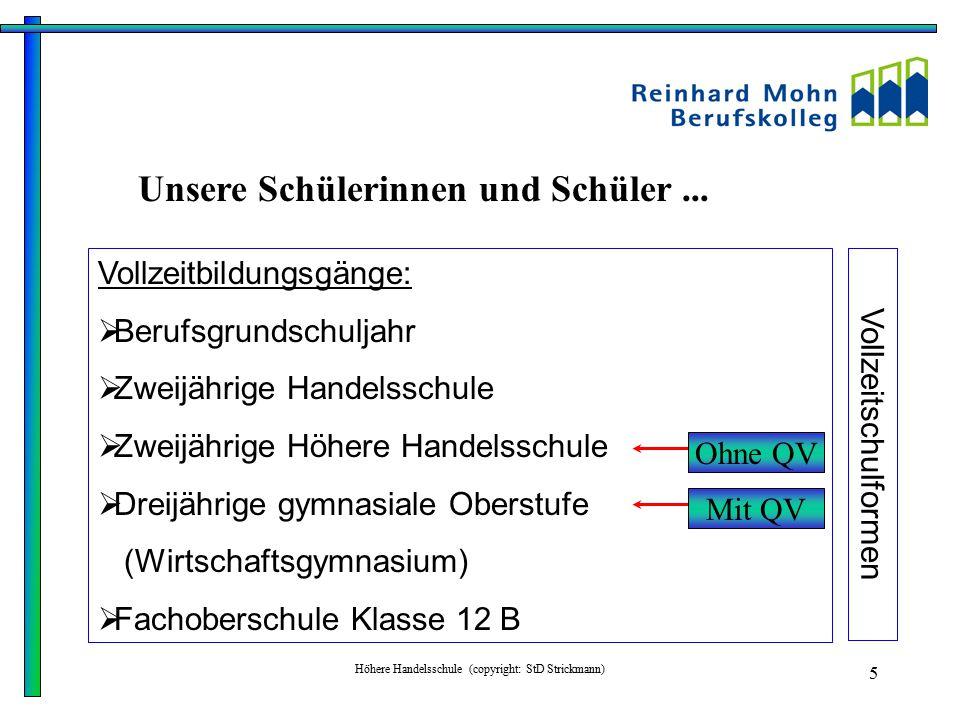 Höhere Handelsschule (copyright: StD Strickmann) 6 Welche Kompetenzen sollte eine Kauffrau, ein Kaufmann haben.