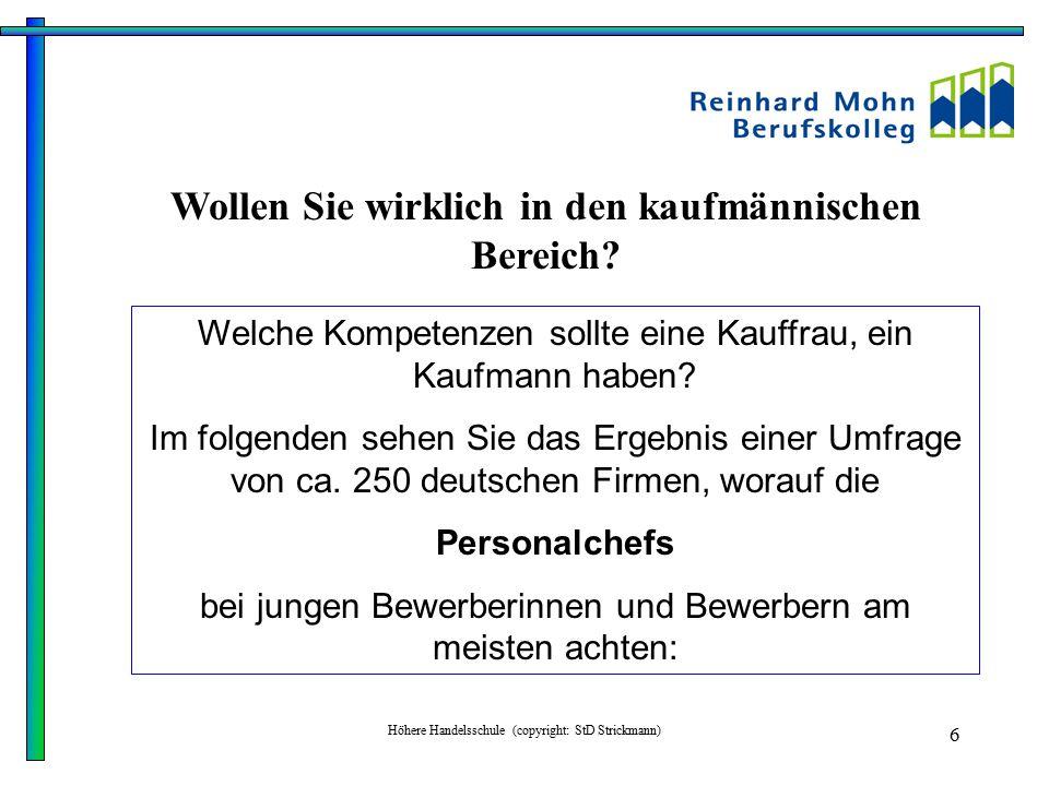 Höhere Handelsschule (copyright: StD Strickmann) 7 Du......