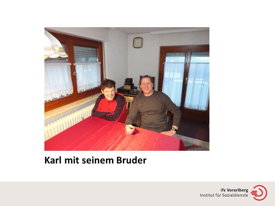 Karl mit seinem Bruder
