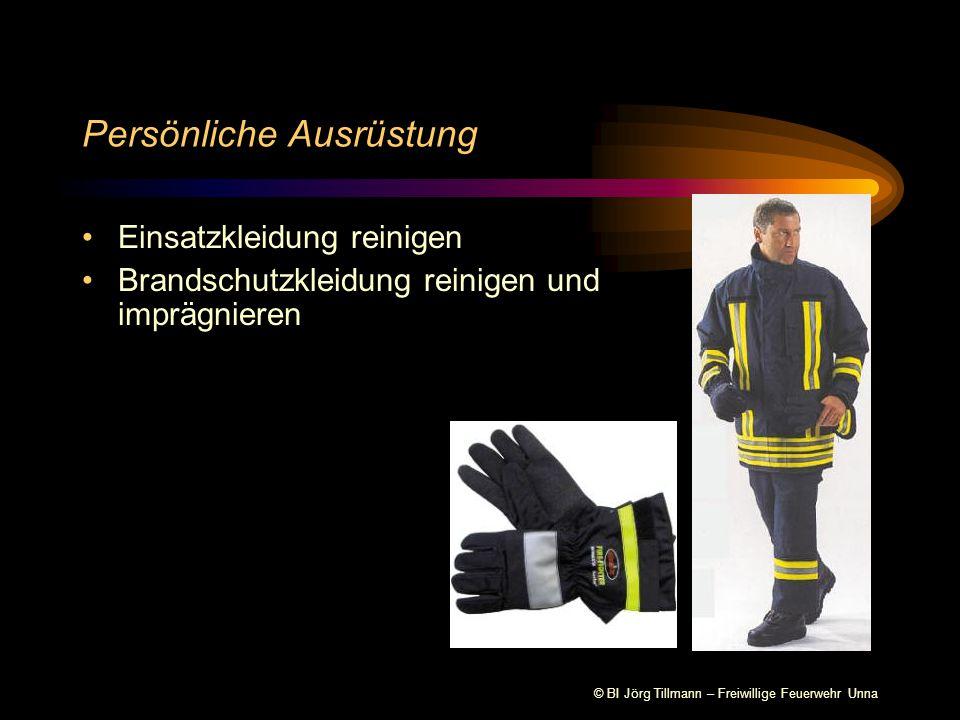 © BI Jörg Tillmann – Freiwillige Feuerwehr Unna Persönliche Ausrüstung Einsatzkleidung reinigen Brandschutzkleidung reinigen und imprägnieren