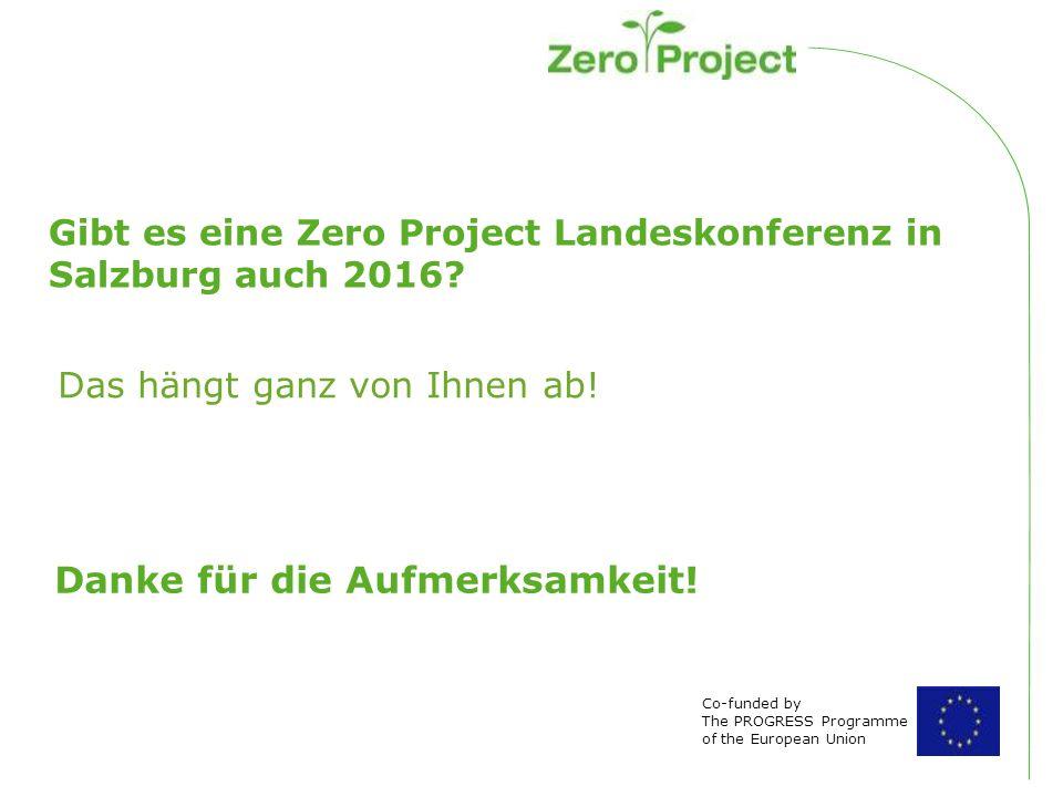 Gibt es eine Zero Project Landeskonferenz in Salzburg auch 2016.