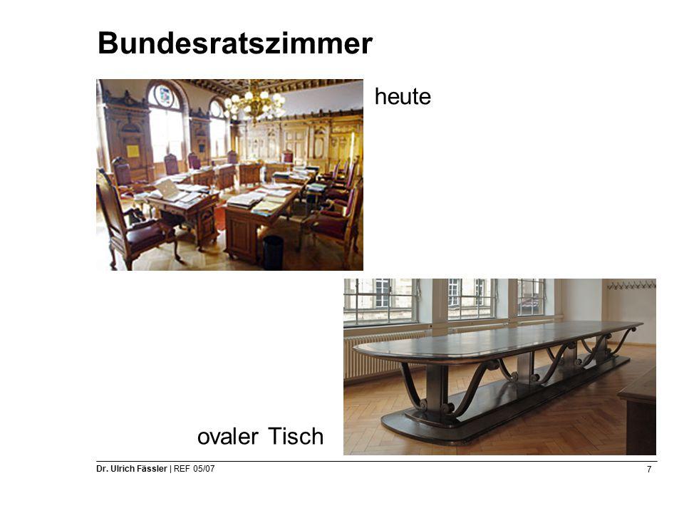 7 Dr. Ulrich Fässler | REF 05/07 Bundesratszimmer heute ovaler Tisch