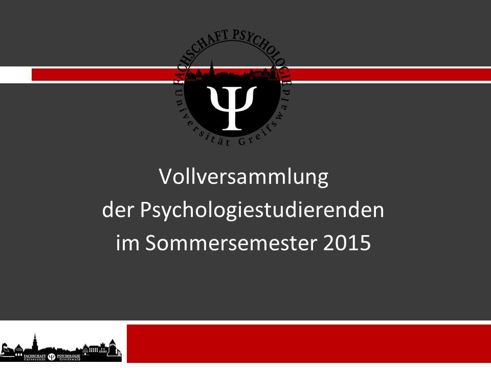 Vollversammlung der Psychologiestudierenden im Sommersemester 2015