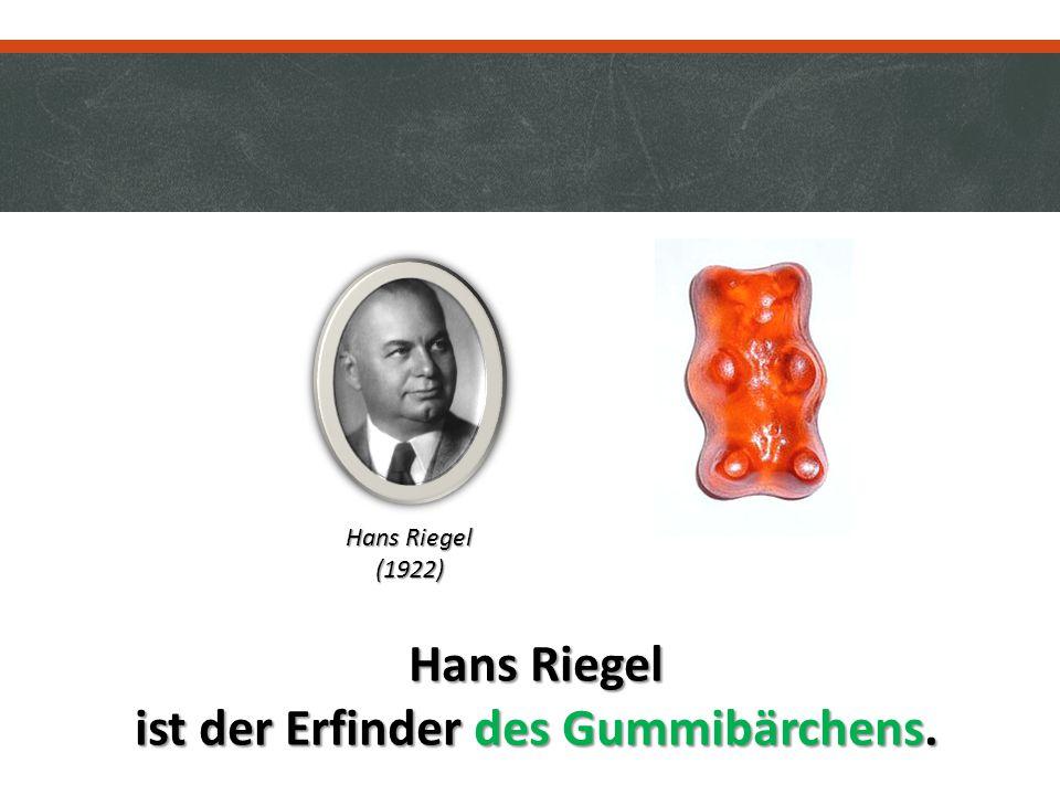 Hans Riegel ist der Erfinder des Gummibärchens. Hans Riegel (1922)