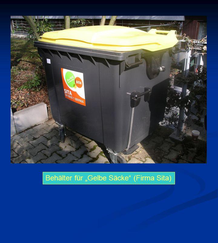 """Behälter für """"Gelbe Säcke"""" (Firma Sita)"""