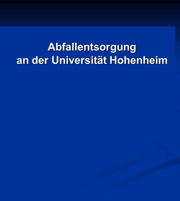 Abfallentsorgung an der Universität Hohenheim