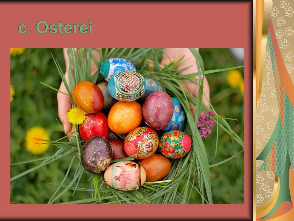 5. Was symbolisiert das Ei? a. die Fruchtbarkeit b. den Frieden c. die Liebe
