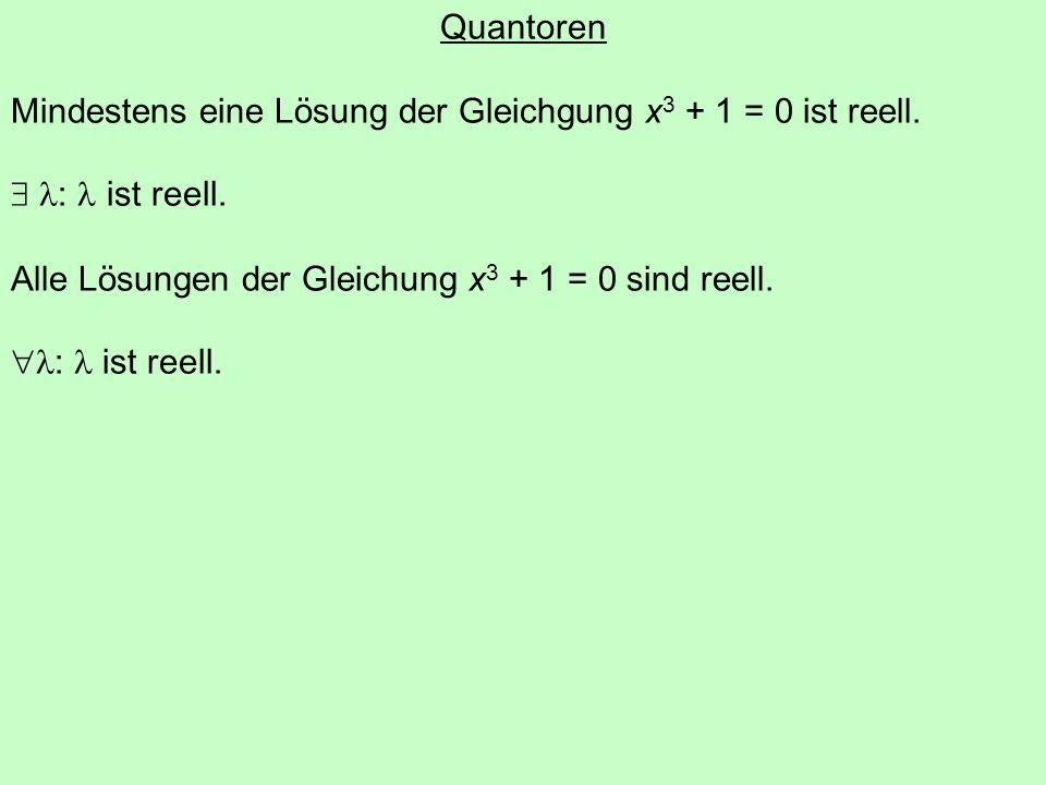 Aussageformen 3n ist eine gerade Zahl. m teilt n ohne Rest.