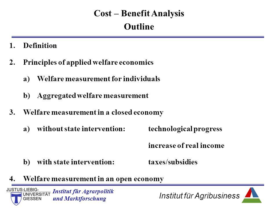 Institut für Agribusiness Institut für Agrarpolitik und Marktforschung Hannover 14.11.07.ppt S p* q* PS = PR – VC quantity price Welfare measurement of a single producer producer's surplus (PS) Variable Costs (VC)