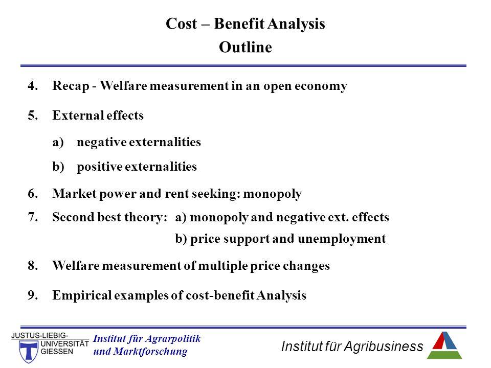 Institut für Agribusiness Institut für Agrarpolitik und Marktforschung Hannover 14.11.07.ppt 4.Recap - Welfare measurement in an open economy 5.Extern