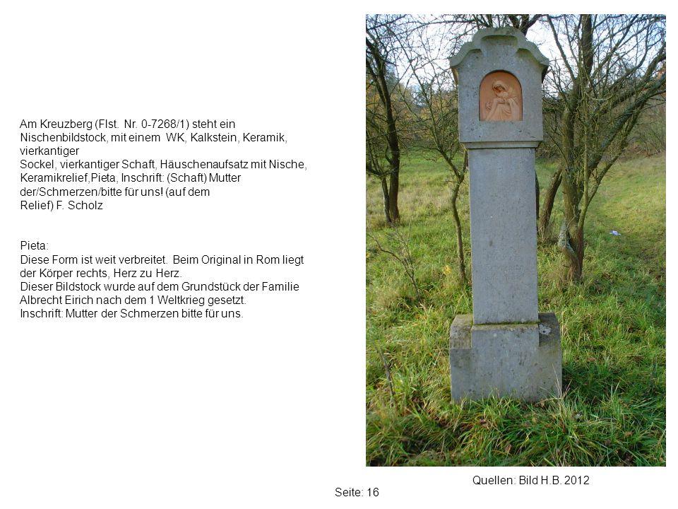 Seite: 16 Quellen: Bild H.B.2012 Am Kreuzberg (Flst.