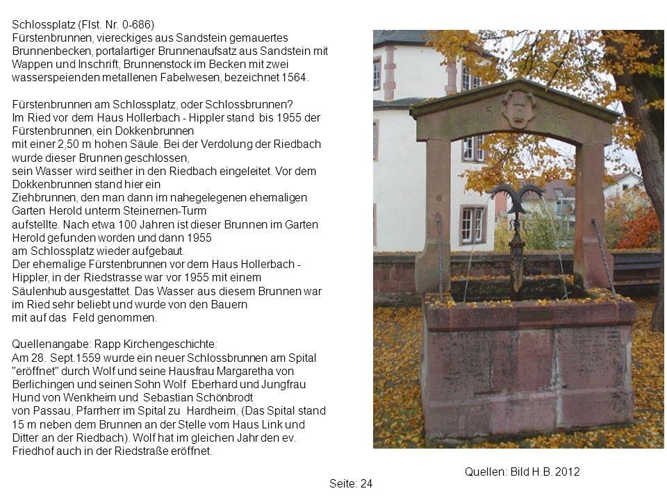 Seite: 24 Quellen: Bild H.B.2012 Schlossplatz (Flst.