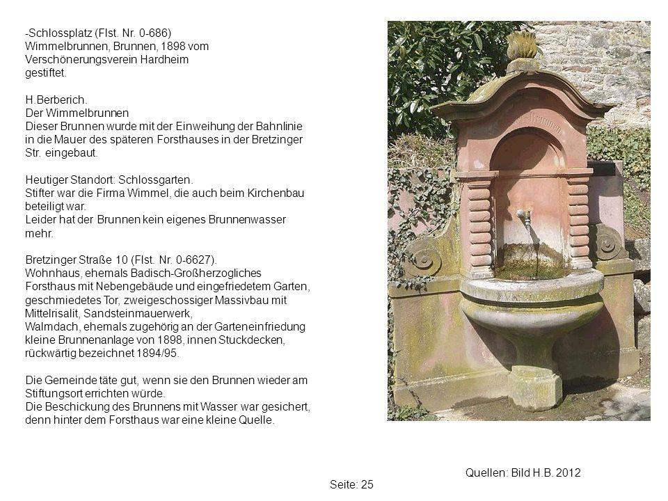 Seite: 25 Quellen: Bild H.B.2012 -Schlossplatz (Flst.