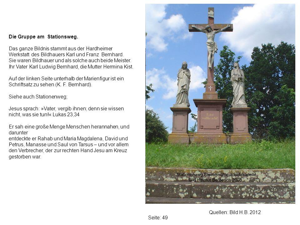Seite: 49 Quellen: Bild H.B.2012 Die Gruppe am Stationsweg.