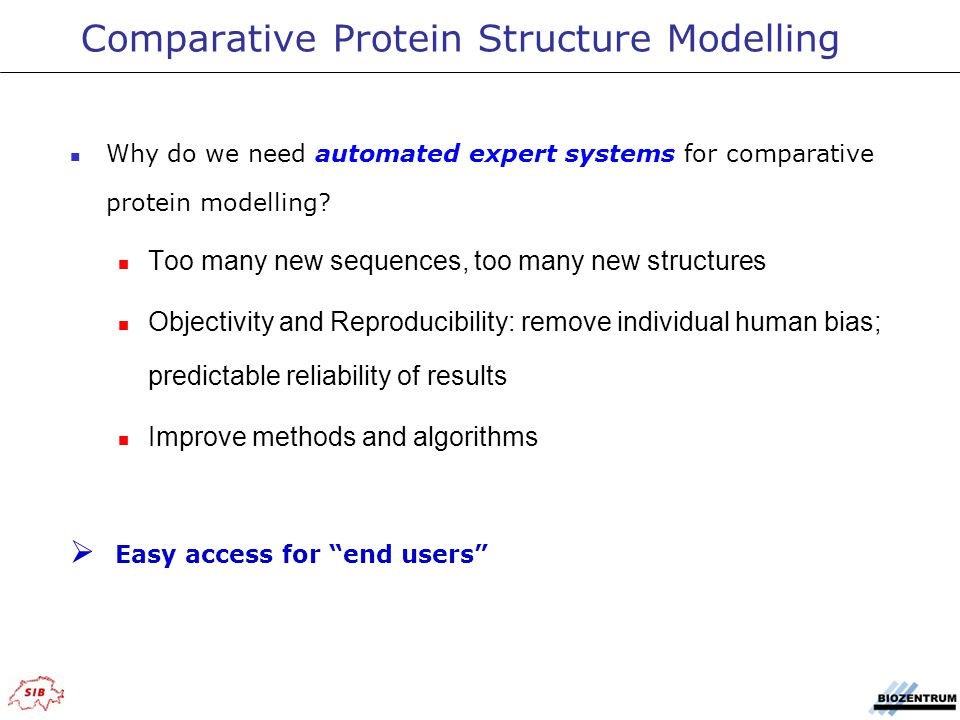 Why do we need automated expert systems for comparative protein modelling.