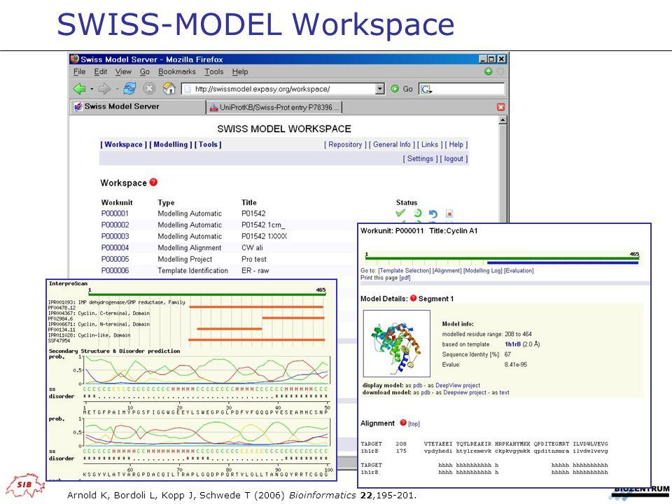 SWISS-MODEL Workspace Arnold K, Bordoli L, Kopp J, Schwede T (2006) Bioinformatics 22,195-201.